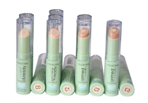 12 x Collection Primed & Ready Anti Blemish Concealer | C0, C1, C2 & C3 | Green